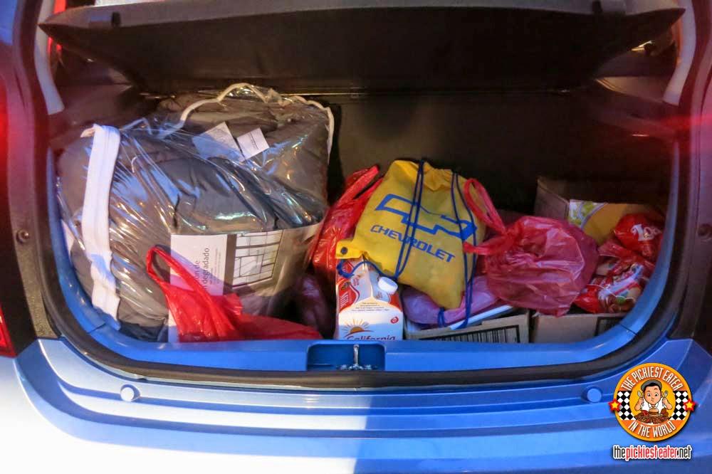 Chevrolet Spark trunk space