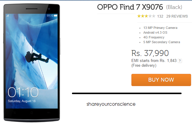 BUY OPPO Find 7 X9076(Black)