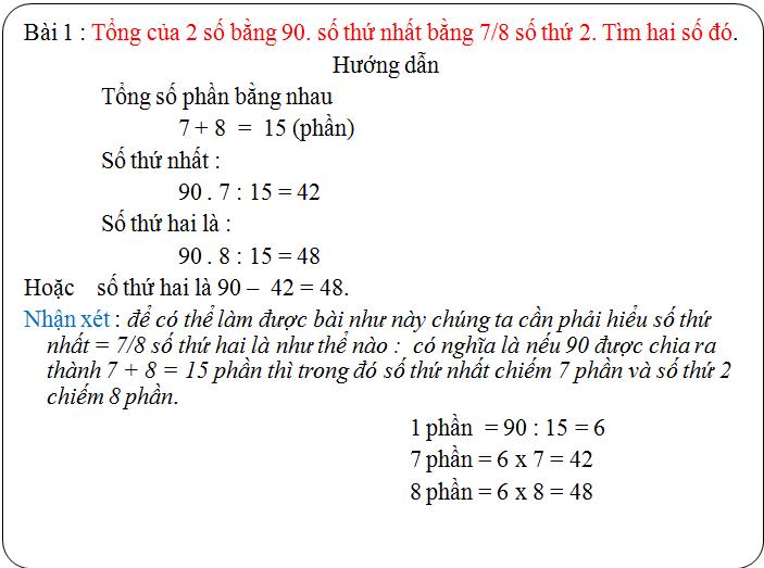 Các bài tập về tìm hai hay nhiều số khi biết tổng, hiệu và tỉ số - toán lớp 5(3)