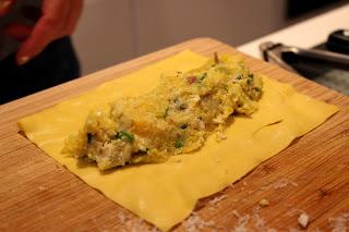 Vegetarische cannelloni met pompoen, geitenkaas en walnoten