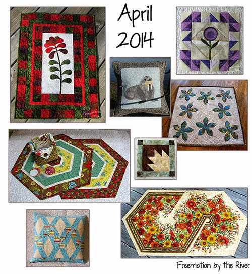 April quilting at Freemotion by the River