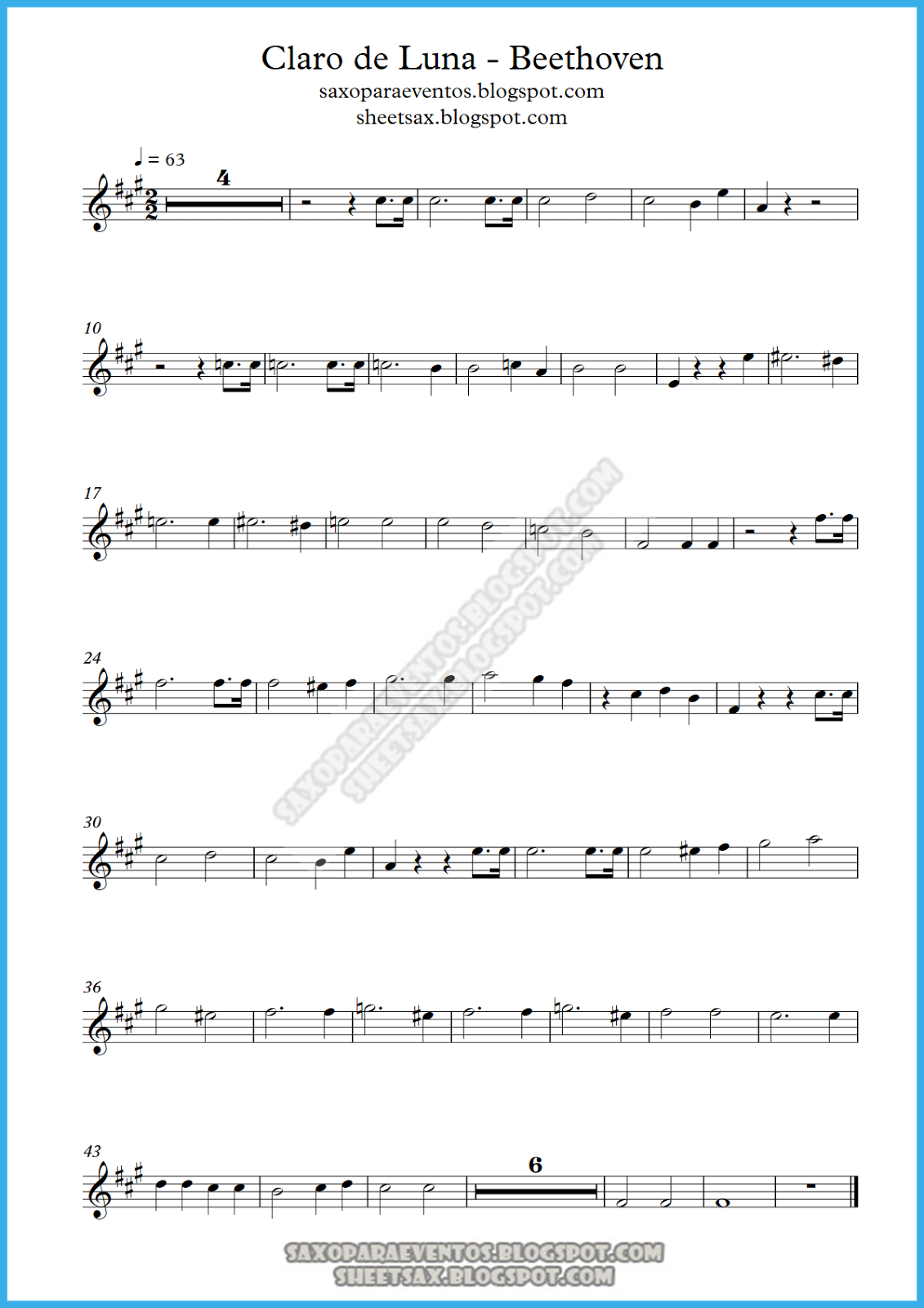 Beethoven Moonlight Sonata Sheet Music For Beginners Music Score Of ...