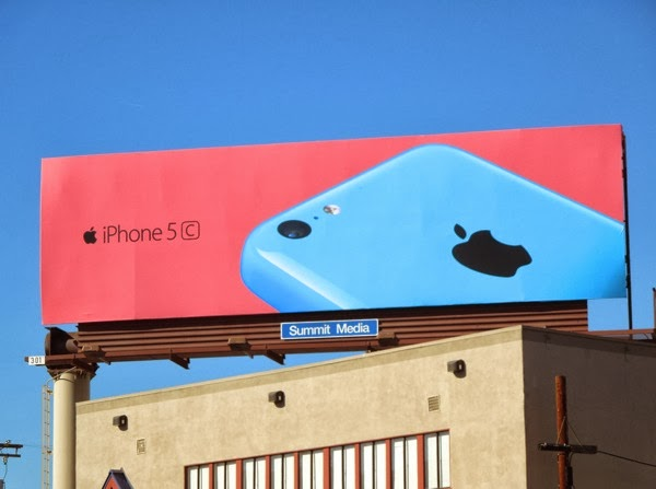 Blue pink iPhone 5c wave 2 billboard