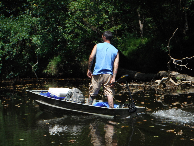 North carolina river fishing and canoeing with mack small for Crappie fishing boats