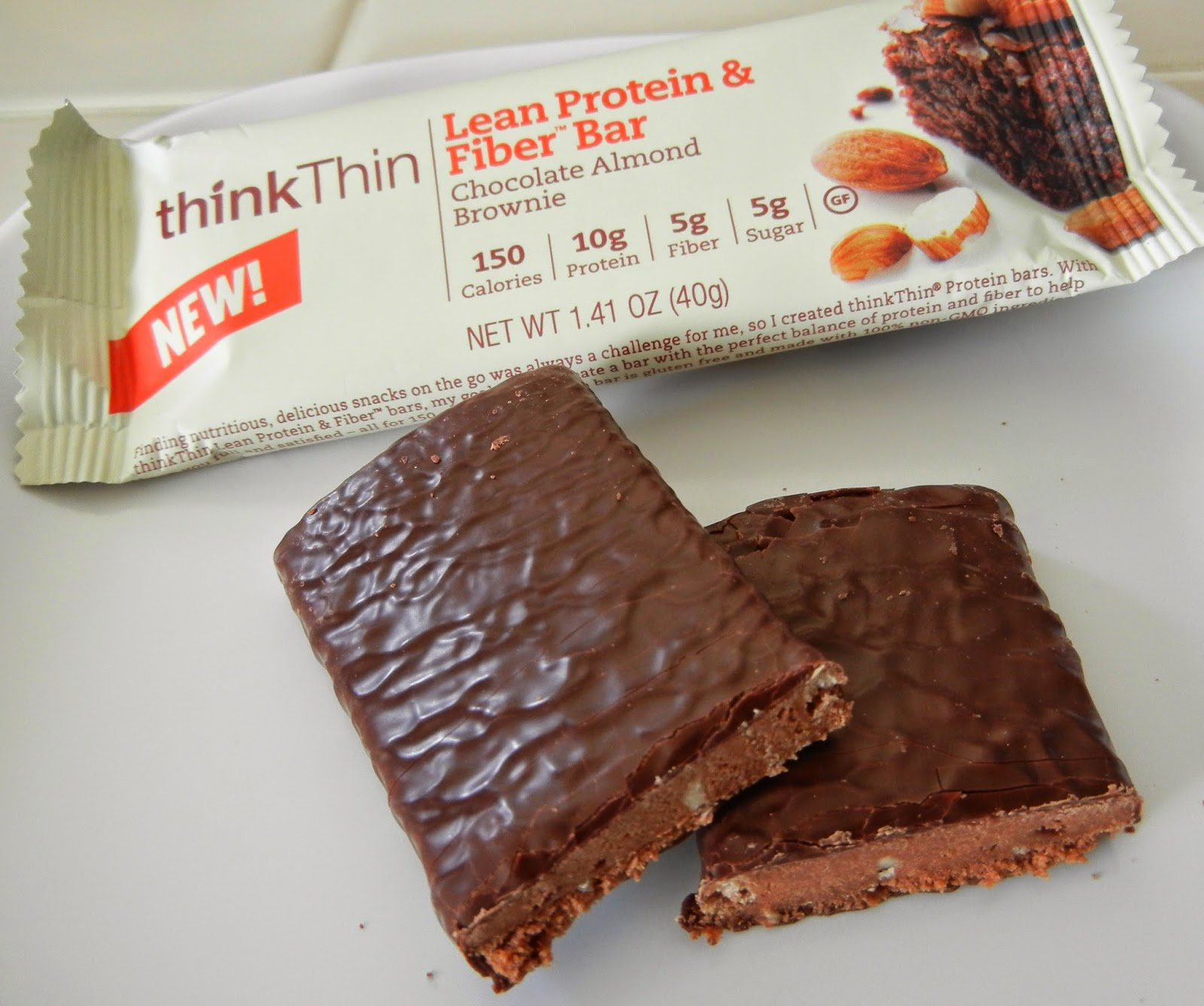 thinkThin+Bars+Lean+Protein+and+Fiber+Chocolate+Almond+Brownie+Bar Weight Loss Recipes thinkThin New Protein Bars Review and Giveaway