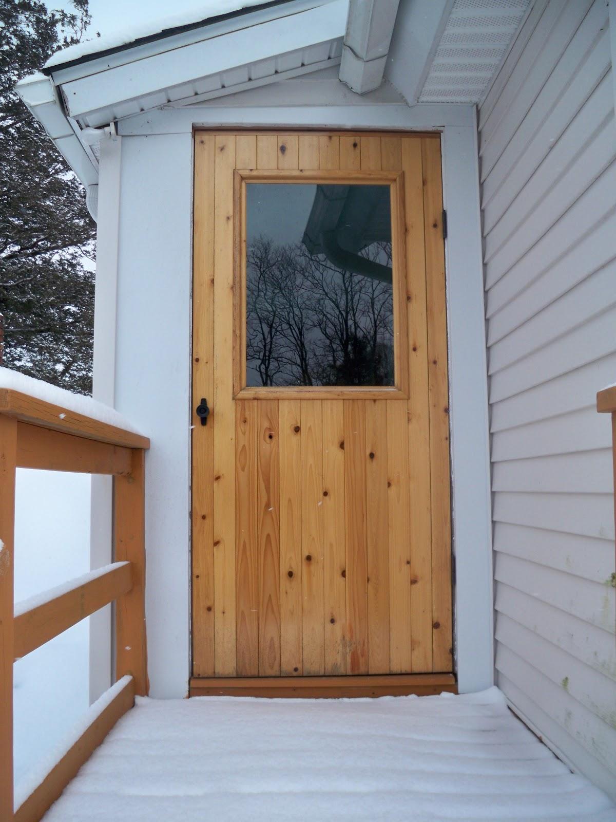 Red Cedar Storm Door & littlewing woodwork: Red Cedar Storm Door Pezcame.Com