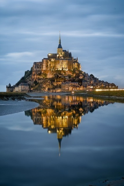 Mont Saint-Michel at twilight