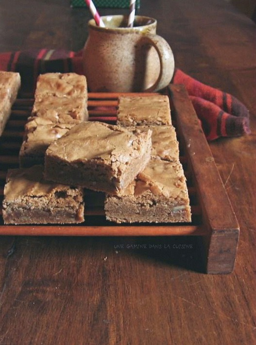 brown sugar + rum blondies :: une gamine dans la cuisine