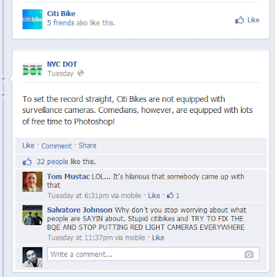 New York City Department of Transportation (NYC DOT) on Comic John Powers' CitiBike Hoax