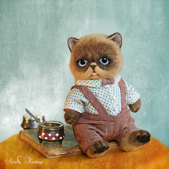 Needle felted cat Prokhor, OOAK