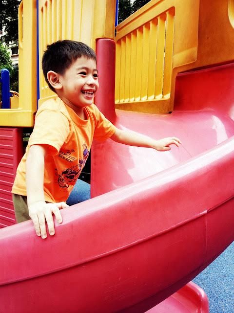 happy kid at playground