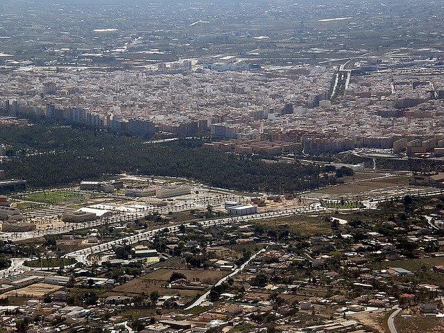 Vista aerea de Elche