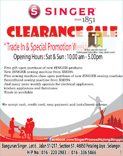 SINGER Clearance Sale 2012
