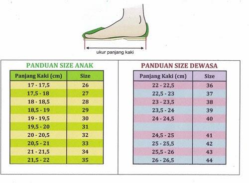 ukuran sepatu new balance
