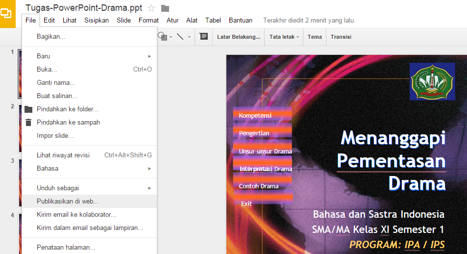 Cara Memasang File Power Point ke Artikel Blogger