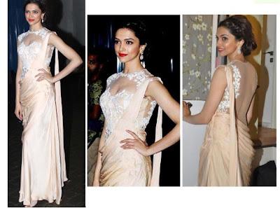 Lucky Deepika Padukone's in a Sonaakshi Raaj silk