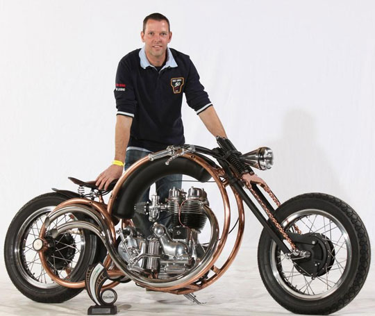 Royal Enfield custom | Royal Enfield Olympic by Dutch builder Piet Smit