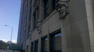 University Manor Apartments' gargoyles