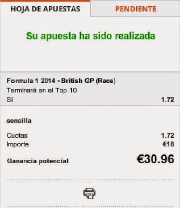 Apuestas Deportivas Rosberg Formula 1 – Gran premio de Gran Bretaña/Silverstone Massa