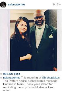 Selena Gomez Bishop Td Jakes www.chinilive.com