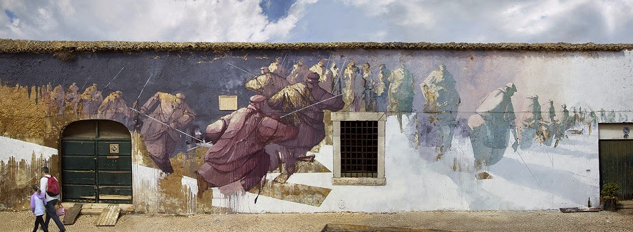"Sepe was another artist that contributed to this year's ARTURb residency in Lagos, Portugal. The Polish artist recently finished this large mural titled ""What Goes Around Comes Around""."