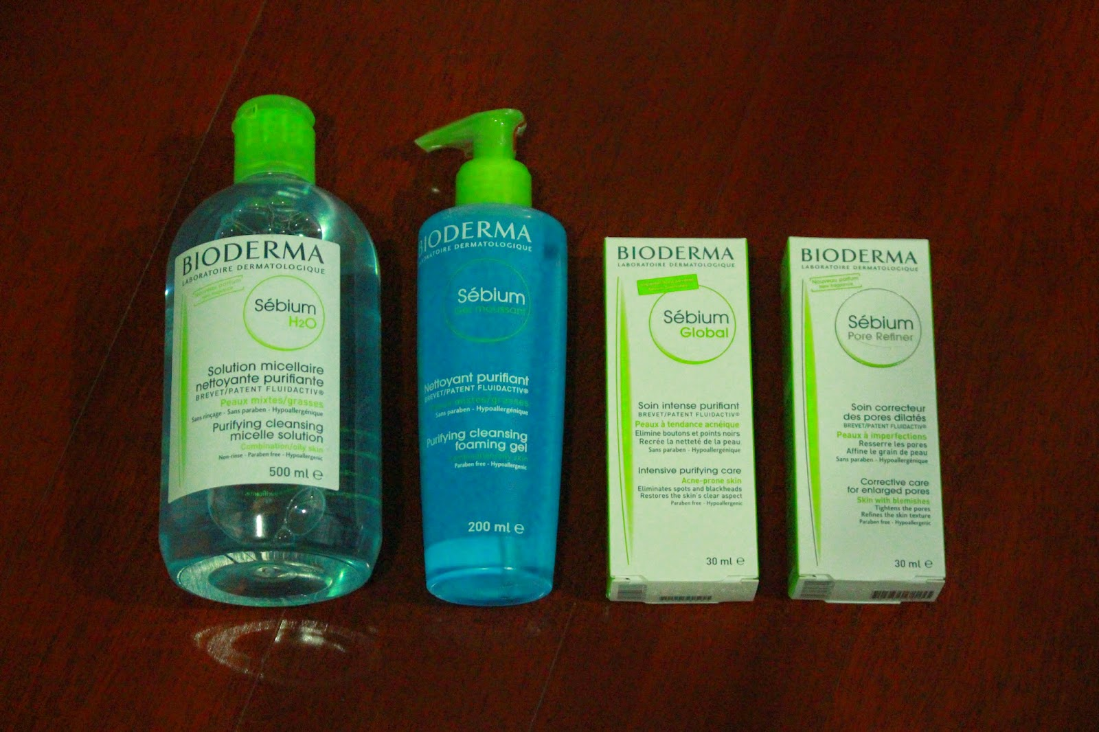 Bioderma Sebium Micelle Solution, Purifying Cleansing Foaming Gel, Sebium Global and Sebium Pore Refiner