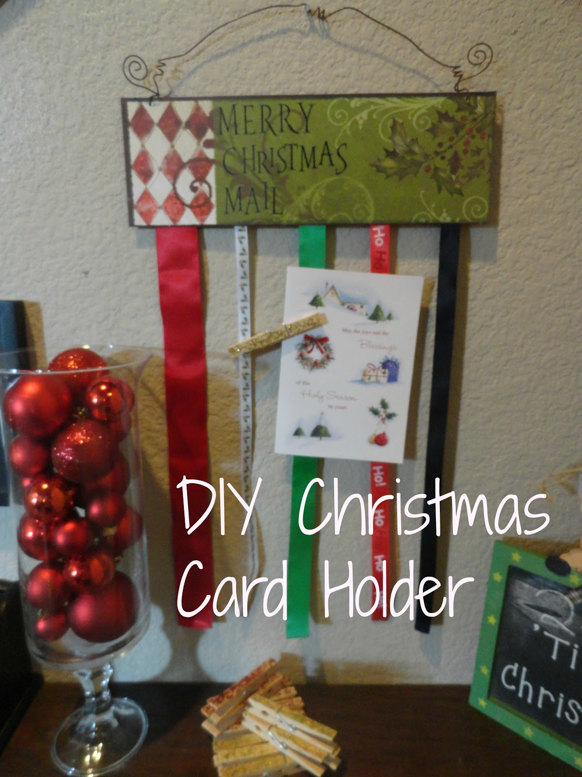 So I Saw This Tutorial Diy Christmas Card Holder