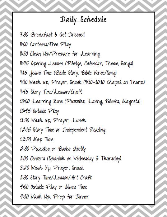 daily schedule for preschool the sweatman family preschool 992