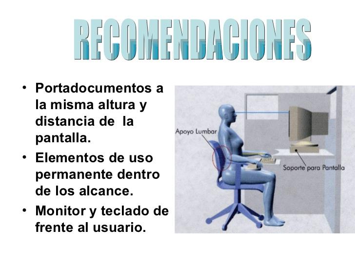 Ergonom a y uso de computadoras ergonomia en la oficina for Ergonomia en el trabajo de oficina