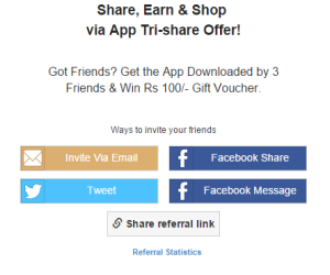 shopclues invite friends anf earn gift voucher
