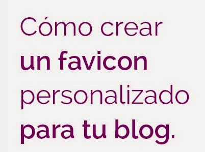 Crear y colocar un favicon a un blog o website