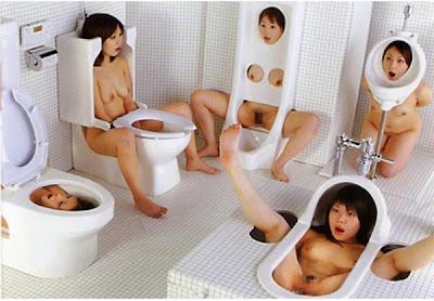 японки в туалете