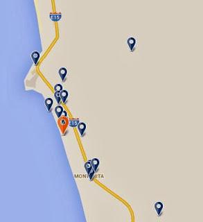 mapa Hotel Montañita Ecuador - Dharma Beach Hotel