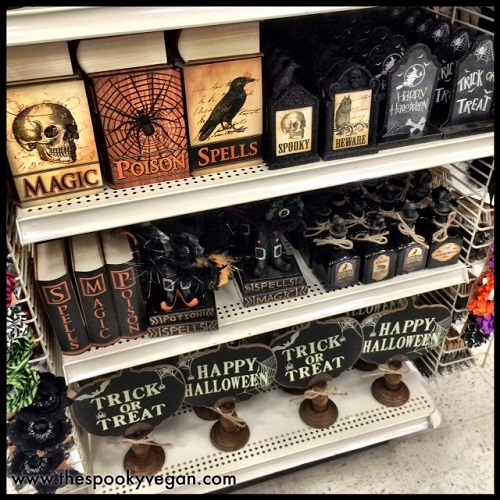 the only item that really struck me was a countdown to halloween sign with a chalkboard section to scribble in how many days remain until halloween shown - Michaels Halloween Decorations