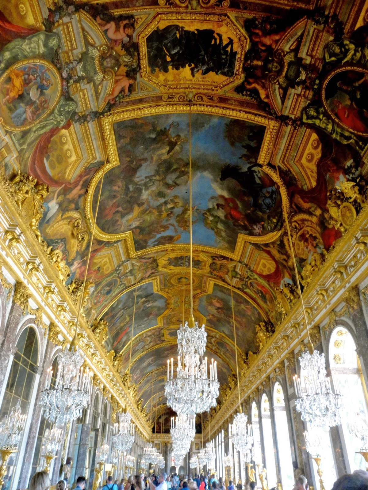 Interior of Chateau de Versailles, Paris
