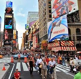 publicidad exterior en Times Square