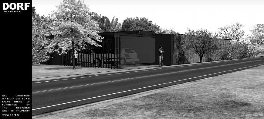 Dorf fr designer plan architecte maison arcachon avec patio for Architecte arcachon