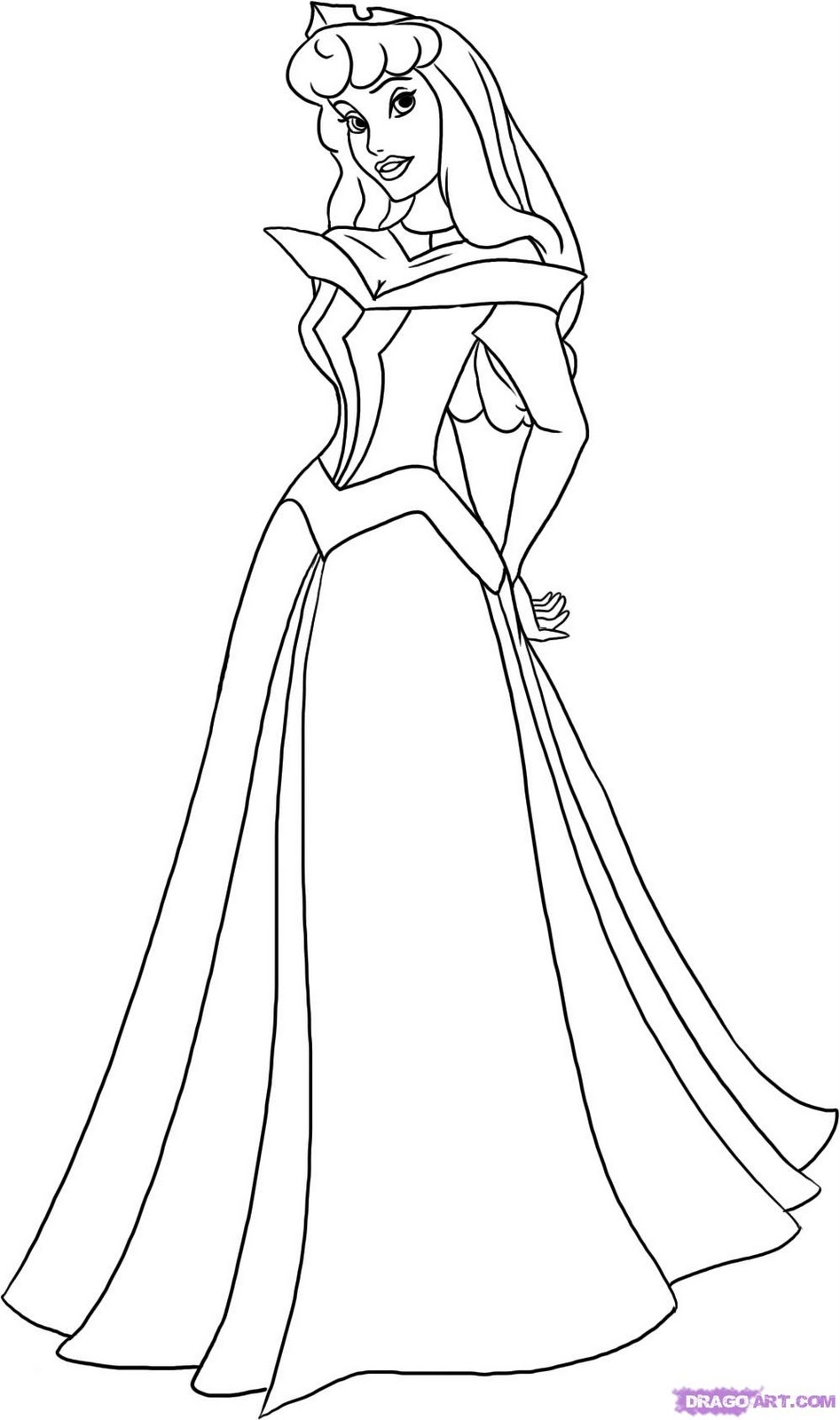 disney aurora coloring pages - photo#27