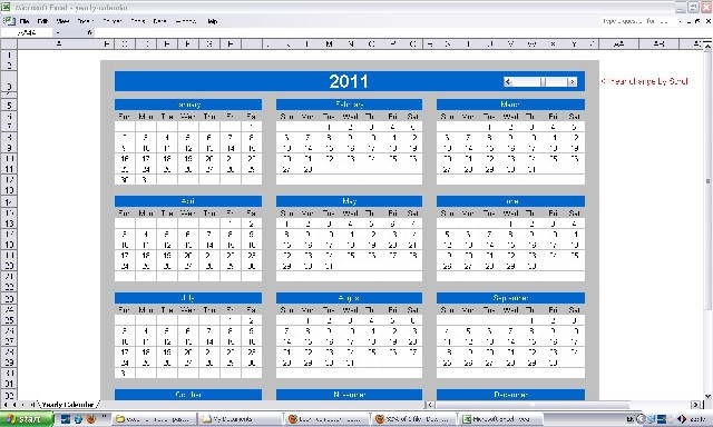 Ms Excel Yearly Calendar    Learn Computer
