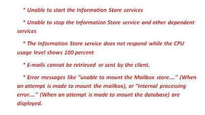 Exchange server errors
