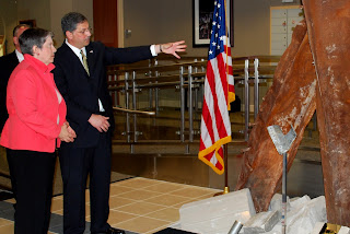 As part of her CBS Evening News interview with Katie Couric discussing Osama bin Laden retaliation threats, Secretary Napolitano visited the Transportation Security Operations Center (TSOC) also known as the Freedom Center.