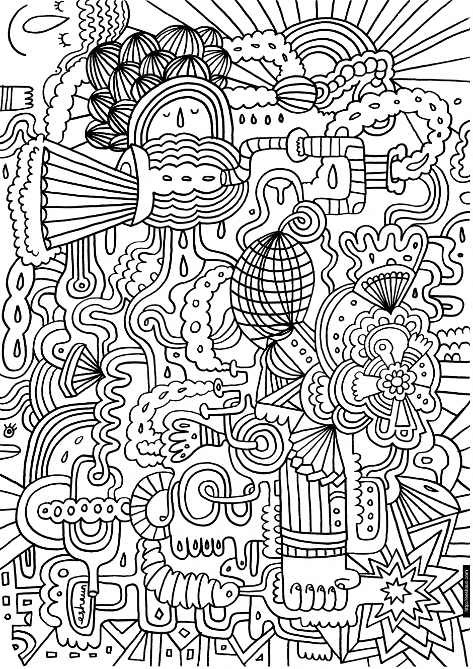 difficult coloring pages for girls - photo#20