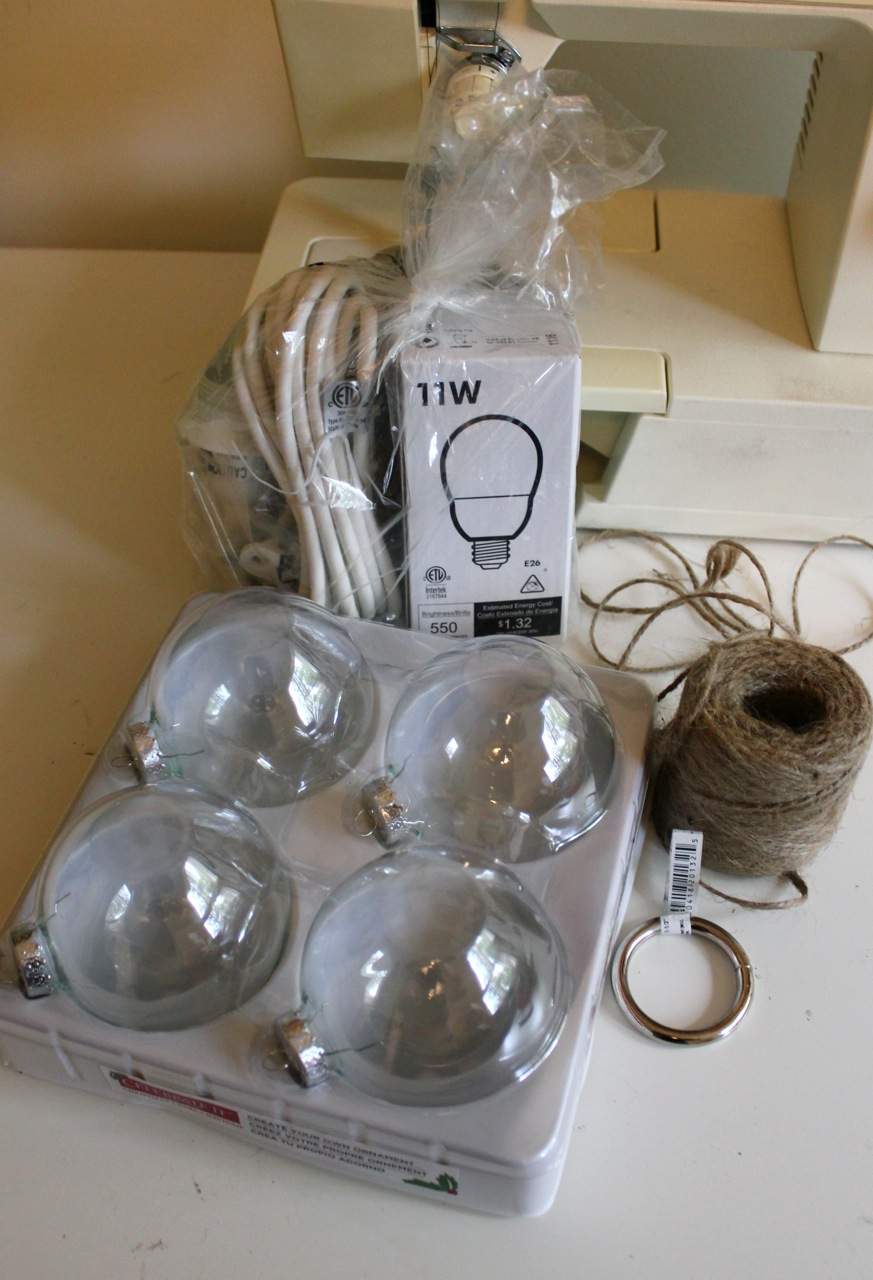 Twelve 3 Diameter Glass Ball Ornaments 10 2 5 Ikea Hemma Hanging Light Cord 8 Roll Of Jute Twine