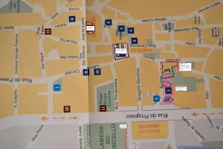 mapa de Ourense