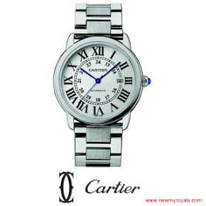 Kate Middleton Cartier Ballon Bleu de Cartier Large Stainless Steel Bracelet Watch