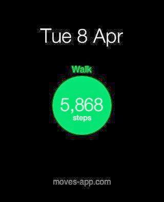 moves app data