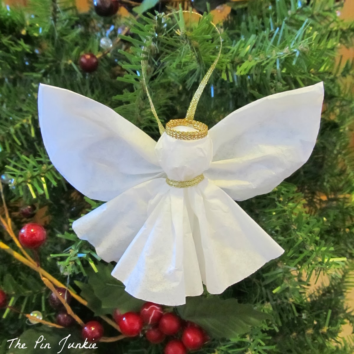 Homemade paper christmas decorations - Diy Paper Angel Ornament