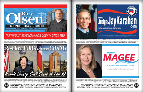 "PAGES 54 AND 55 - HOUSTON BUSINESS CONNECTIONS MAGAZINE© ""STRATEGIC VOTER"" MOBILIZATION PROJECT"