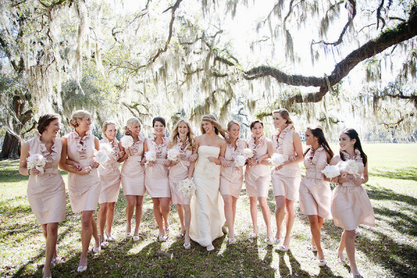 blush bridesmaids dress inspiration #blush #bridesmaids via www.lemagnifiqueblog.com
