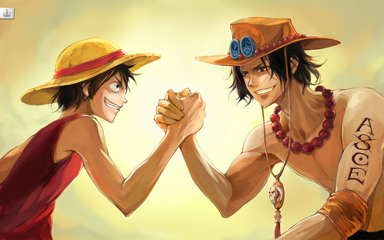 portgas d ace fire fist monkey d luffy hd wallpaper one piece anime    One Piece Wallpaper Ace And Luffy